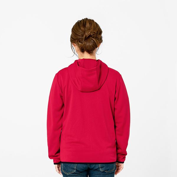 モデル身長161㎝/Sサイズ/ガーネットレッド着用/背面シルエット