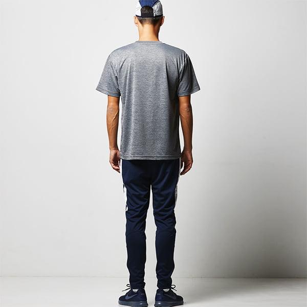 モデル身長182㎝/Lサイズ/ヘザーチャコール着用/背面シルエット