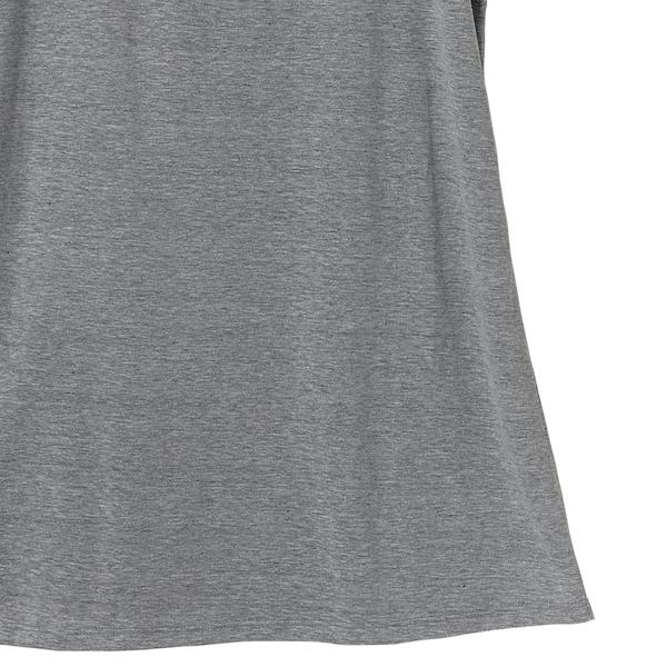 ワンピースTシャツの裾(ヘザーグレー)