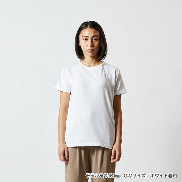モデル身長160㎝/G-Mサイズ/ホワイト 着用/正面シルエット