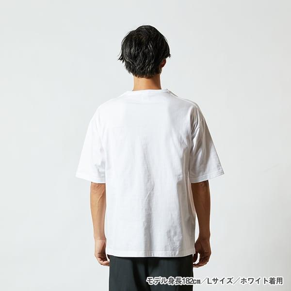 モデル身長182㎝/Lサイズ/ホワイト 着用/背面シルエット