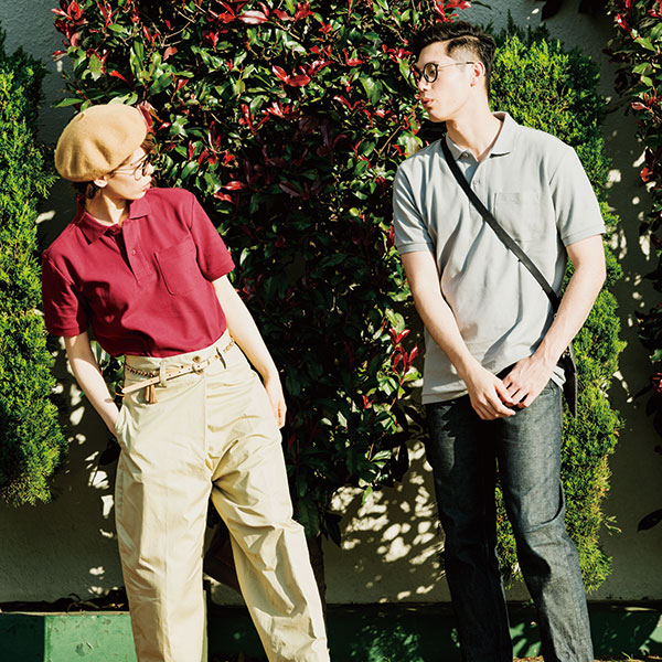 男性モデル:身長181cm、Lサイズ着用 女性モデル:身長160cm、Sサイズ着用