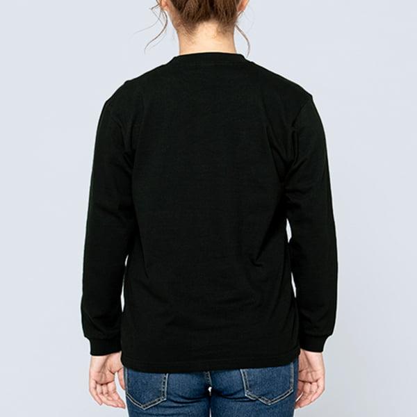 女性モデル身長161㎝/Sサイズ/ブラック着用/背面シルエット
