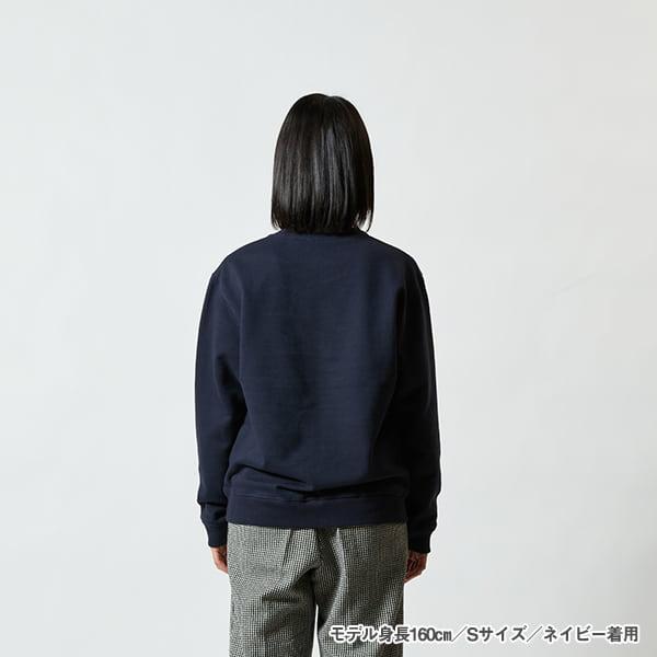 モデル身長160㎝/Sサイズ/ネイビー 着用/背面シルエット