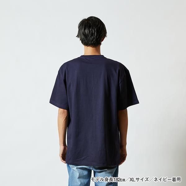 モデル身長182㎝/XLサイズ/ネイビー着用/背面シルエット