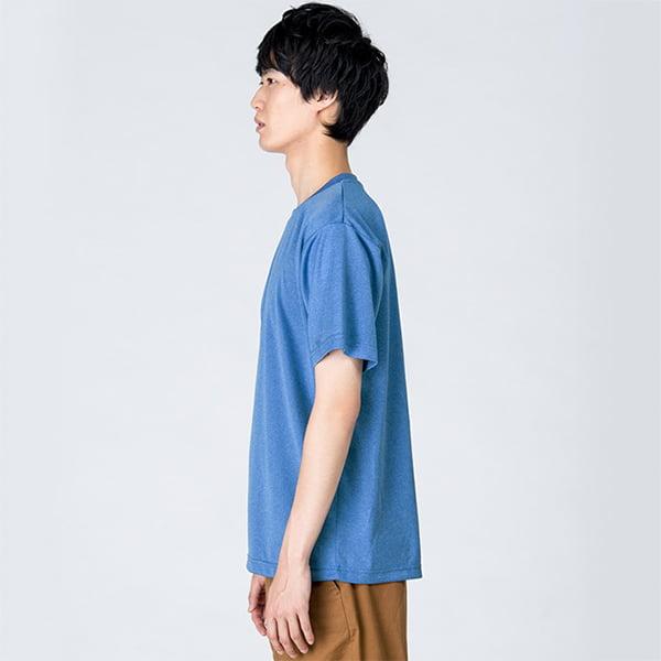 モデル身長182㎝/Lサイズ/ミックスブルー着用/サイドシルエット