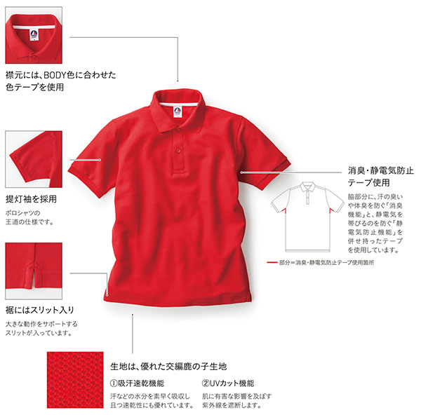 ベーシックスタイルポロシャツの詳細