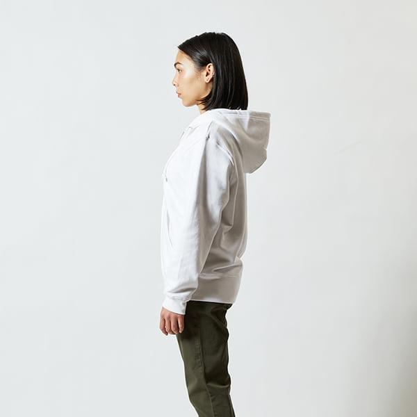 モデル身長160㎝/Sサイズ/ホワイト着用/サイドシルエット