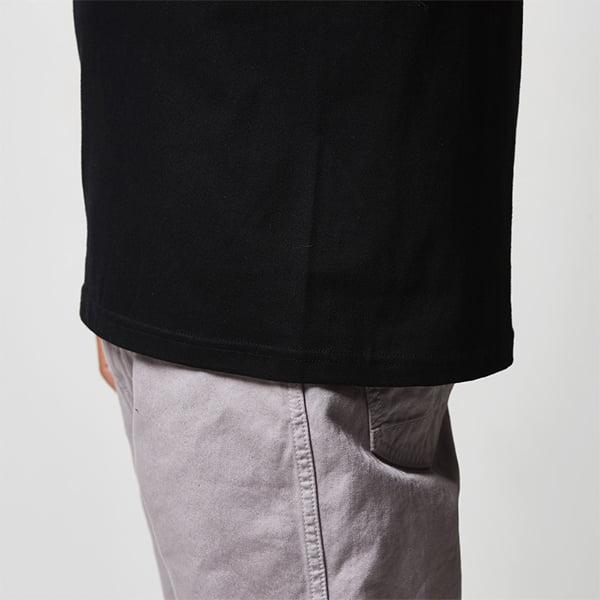 丸胴仕様、裾下は2本針始末