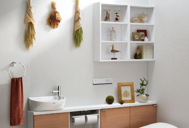 トイレにあると便利な収納棚