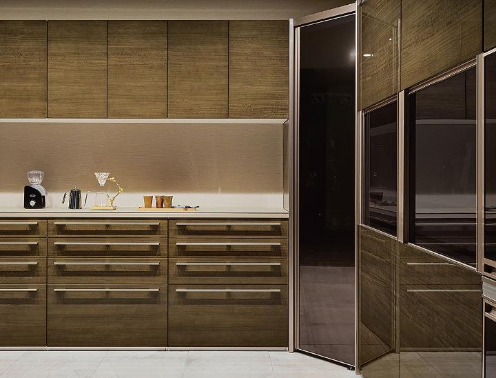オープンタイプのキッチン