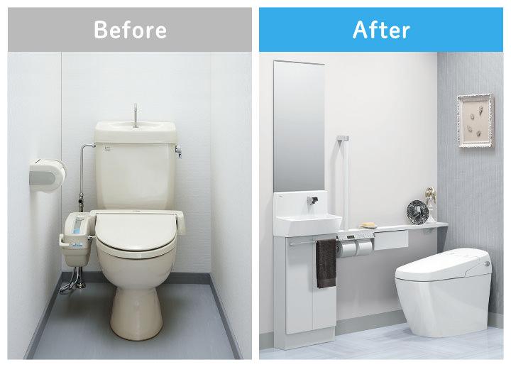 トイレはほとんどの場合で半日〜1日程度で工事が完了する