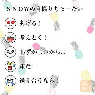 「SNOWの自撮りちょーだい」という質問のスタンプアンケ画像