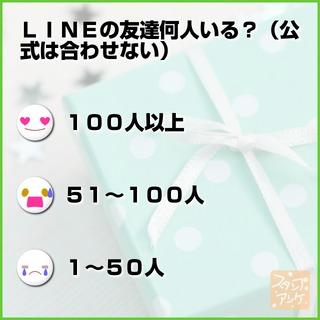 「LINEの友達何人いる?(公式は合わせない)」という質問のスタンプアンケ画像