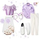 女子っぽさ全開!艶やかな紫色で作る女子っぽコーデを提案します。のサムネイル画像