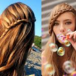 自分で出来る!簡単な前髪アレンジと編み込みの大人可愛いスタイルのサムネイル画像