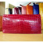 センスが良い☆インパクト大のレディースの本革クロコダイル長財布のサムネイル画像