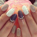 冬の爪のコーディネート!可愛過ぎる「ニットネイル」デザイン特集!のサムネイル画像