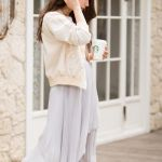 オールシーズン使える♡グレーのプリーツスカートの大人コーデ特集のサムネイル画像