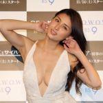 【ビキニ姿で】橋本マナミがイベントで宙吊りにされて注目の的に!のサムネイル画像