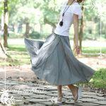 女性らしさが溢れるロングスカート♪カジュアルにもフォーマルにも!のサムネイル画像