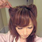 猫耳ヘアの髪型は自分で作れる!くるりんぱで簡単に作ろう!のサムネイル画像