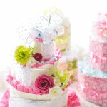 とっても可愛いらしいオムツケーキ★友人や兄弟の出産祝いにも!のサムネイル画像