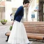オシャレな白ロングスカートを厳選!大人可愛くコーデを決めてみて!のサムネイル画像