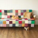 好きな柄でできる、簡単でおしゃれな手作りのソファーカバーのサムネイル画像