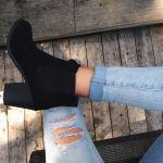 【黒ショートブーツコーデ】トレンドはショートブーツスタイル!のサムネイル画像