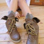 カッコかわいいスタイルが決まる♪レディースワークブーツのコーデのサムネイル画像