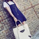 春はデニムが可愛い♡サロペットスカートで作る大人可愛いコーデ特集のサムネイル画像