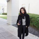 おしゃれ女子必見!黒のチェスターコートをおしゃれに着こなそう♡のサムネイル画像