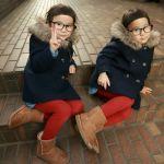 一緒に出掛けるなら、お揃いにしちゃお!【冬の双子コーデ】のサムネイル画像