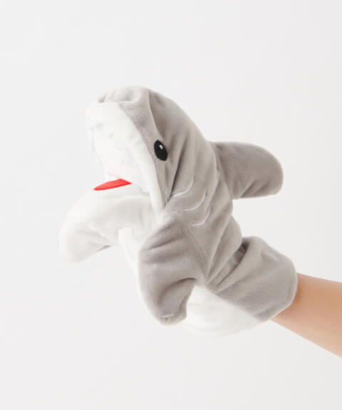 3COINS アニマルパペット サメ
