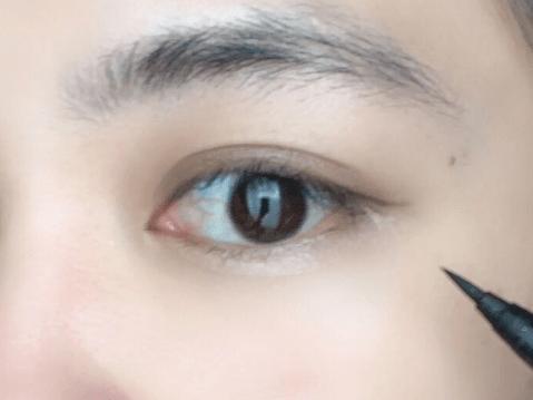 アイライン 裸眼メイク