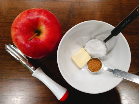 焼きリンゴ_材料