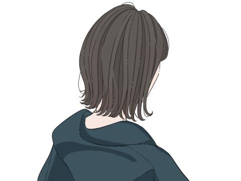 黒髪 外ハネ
