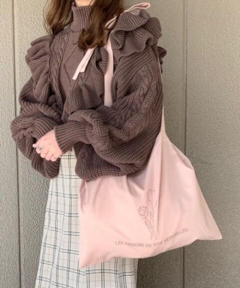 トートバッグ おすすめ ブランド heather トートバッグ ピンクカラー