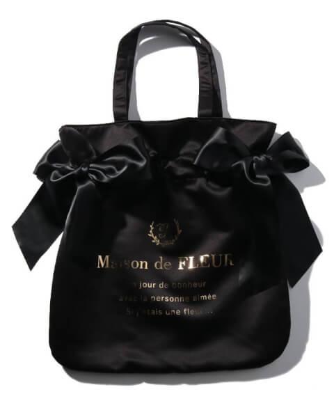 トートバッグ おすすめ ブランド メゾンドフルール 定番ブラック