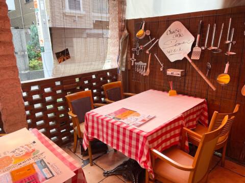 横浜チーズカフェのテラス席