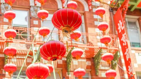 中国の赤い提灯