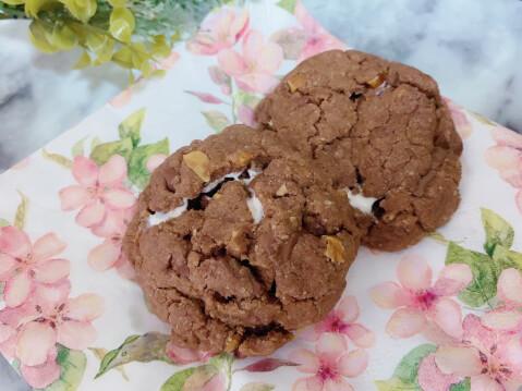 バレンタイン 手作り マショマロチョコクッキー