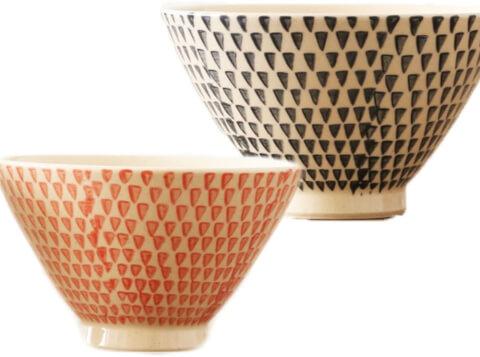 勲山窯茶碗カラーカンナ