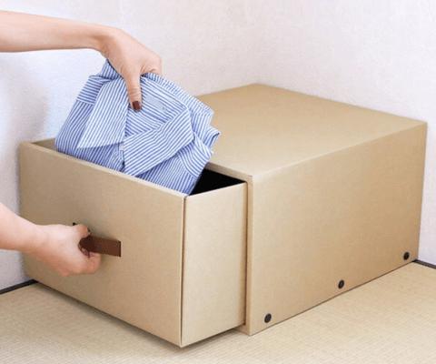 クラフト製の収納ボックス