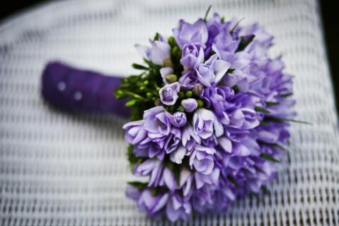 紫色のお花のブーケ