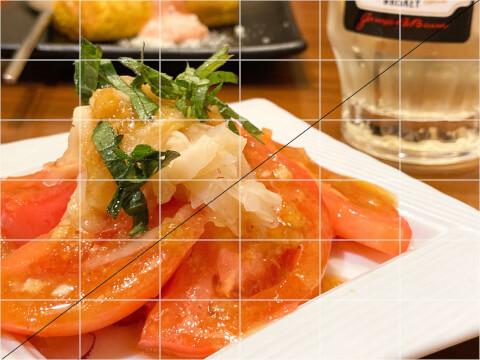 写真 構図 対角線構図 食べ物