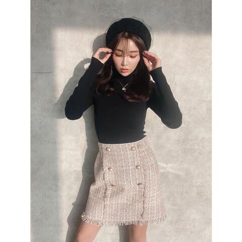 ミニスカート コーデ ツイードスカート