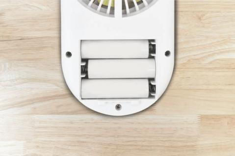 電池式の手持ち扇風機
