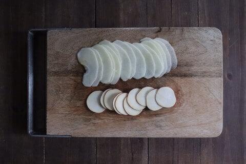 スライス さつまいもとりんごの米粉ガトーインビジブル